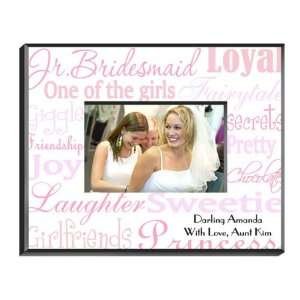 Favors Personalized Junior Bridesmaid Shades of Pink Picture Frame