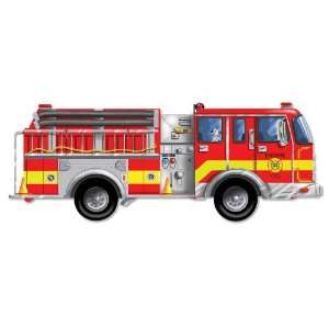 Giant Fire Truck 24pc Floor Puzzle Toys & Games