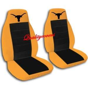 and black seat covers with a Texas Longhorn for a 2004 2005 Ford