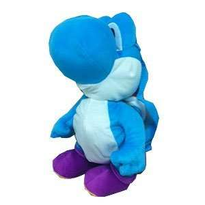 Super Mario Bros. Plush Backpack Yoshi   Blue Toys & Games