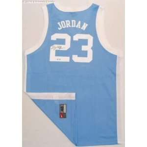 Michael Jordan Signed UNC Tar Heels Nike Authentic Blue Jersey