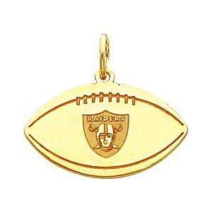 14K Gold NFL Oakland Raiders Logo Football Charm  Sports