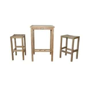 Square Bar Table Set with New Montego Bar Chair Patio, Lawn & Garden
