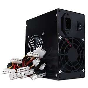 Power Pure Black 680W 20+4 pin Dual Fan ATX PSU w/SATA Electronics