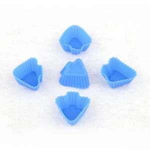 Small Tree Shape Silicone Silica Gel Cake Pans Mold   Blue