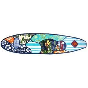 Wave Surfing Surfboard Shaped 6 Foot Area Rug  Kitchen