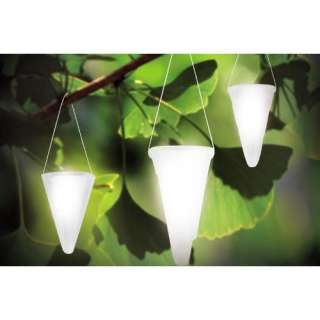 Hanging Solar Garden Light   Cornet Shaped Solar Lights, Solar