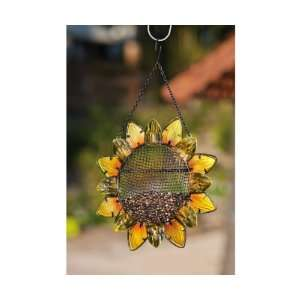 Sunflower, Metal and Glass Bird Feeder   (Bird Feeders) (Seed