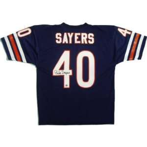 Gale Sayers Throwback Autographed Navy Custom Jersey