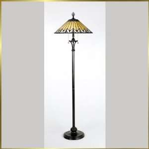 Tiffany Floor Lamp, QZTF9366VB, 2 lights, Antique Bronze, 20 wide X