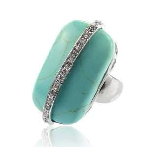 Turquoise Crystal Ring Size 7 Fashion Jewelry Jewelry