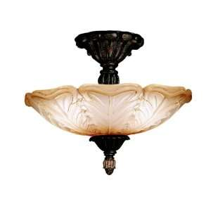 Kichler Lighting 3665ACK Chalfonte Place 3 Light Semi Flush Ceiling