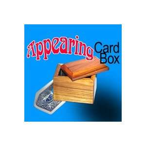 Appearing Card in Box wooden magic trick magician toy