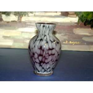 Alicja Polish Hand Made Mouth Blown Small Gray Vase