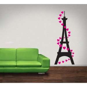 Tower With Hearts Vinyl Wall Decal Sticker Graphic By LKS Trading Post