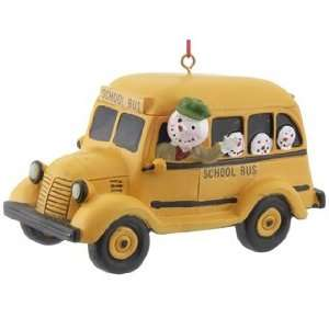 Personalized School Bus Christmas Ornament
