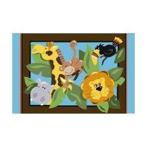 In the Jungle Kids Rug in Multi   39 x 58   Jade Reynolds