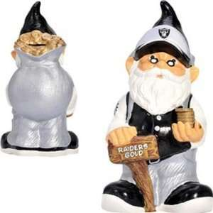 Oakland Raiders NFL Team Gnome Bank