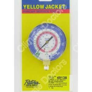 Yellow Jacket 49138 3 1/8 Manifold Gauge HVAC NEW