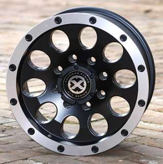 american racing 17 in black and machined wheels ford truck suv wheel