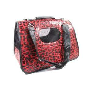 Dog Cat Leopard Print Pet Carrier
