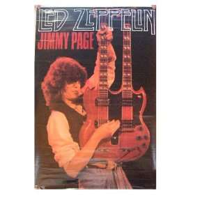 Led Zeppelin Poster Jimmy Page Double neck Guitar