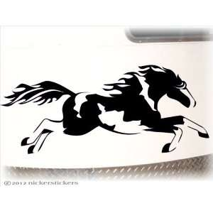 Galloping American Paint Horse Trailer Decal Sticker 10 x