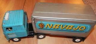 International Navajo Semi Tractor Truck & Trailer Old Metal Toy 2015